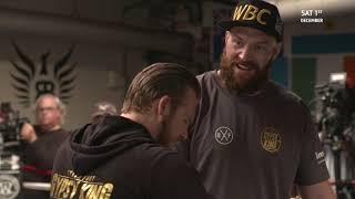 Tyson Fury brilliant ring interview | Facing Wilder, Eddie Hearn, altitude training, the Klitchkos