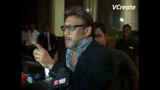 Jackie Shroff at Bappi Lahiri