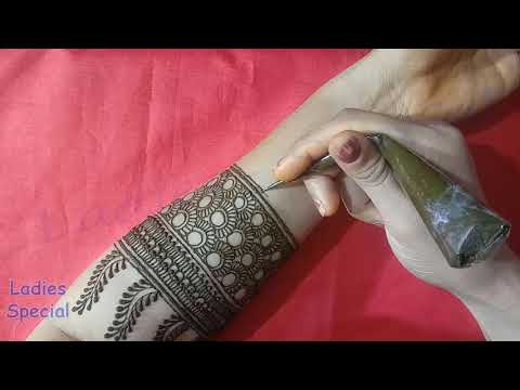 New Stylish Indian Full Hand bridal henna designs | Simple Mehndi Henna Designs For Beginners
