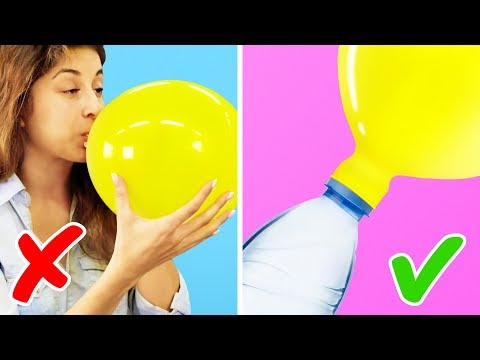 15 BRILLIANT LIFE HACKS WITH BALLOONS