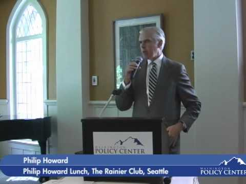 Philip Howard Lunch at The Rainier Club hosted by Washington Policy Center