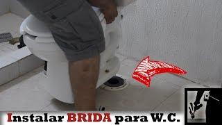 Como instalar taza de baño con BRIDA sanitaria    Instalaciones