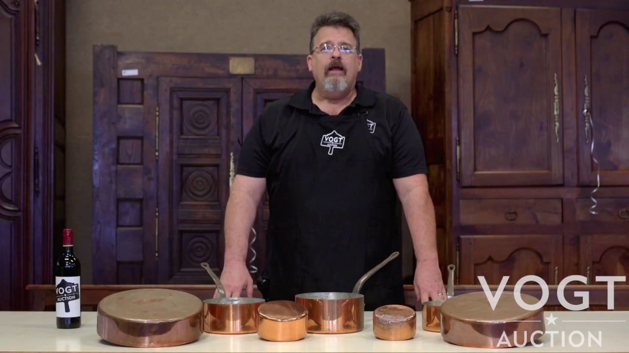 Antique French Copper Cookware At Vogt Auction In San Antonio