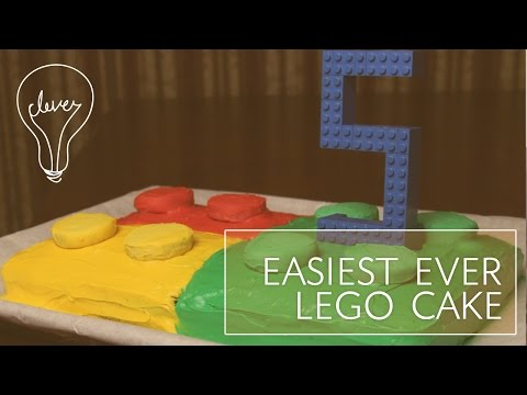 EASIEST EVER LEGO CAKE (with Bloopers) | #SomethingClever