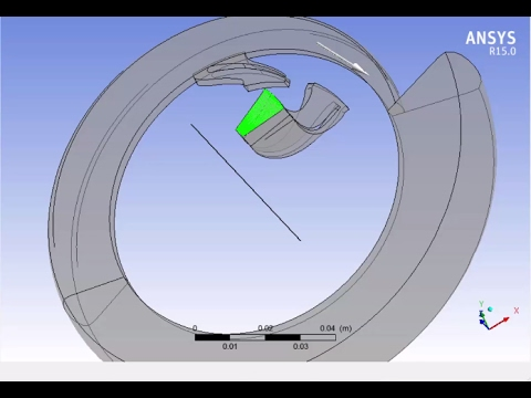A CFD Radial Turbine Simulation Using Ansys CFX After Export
