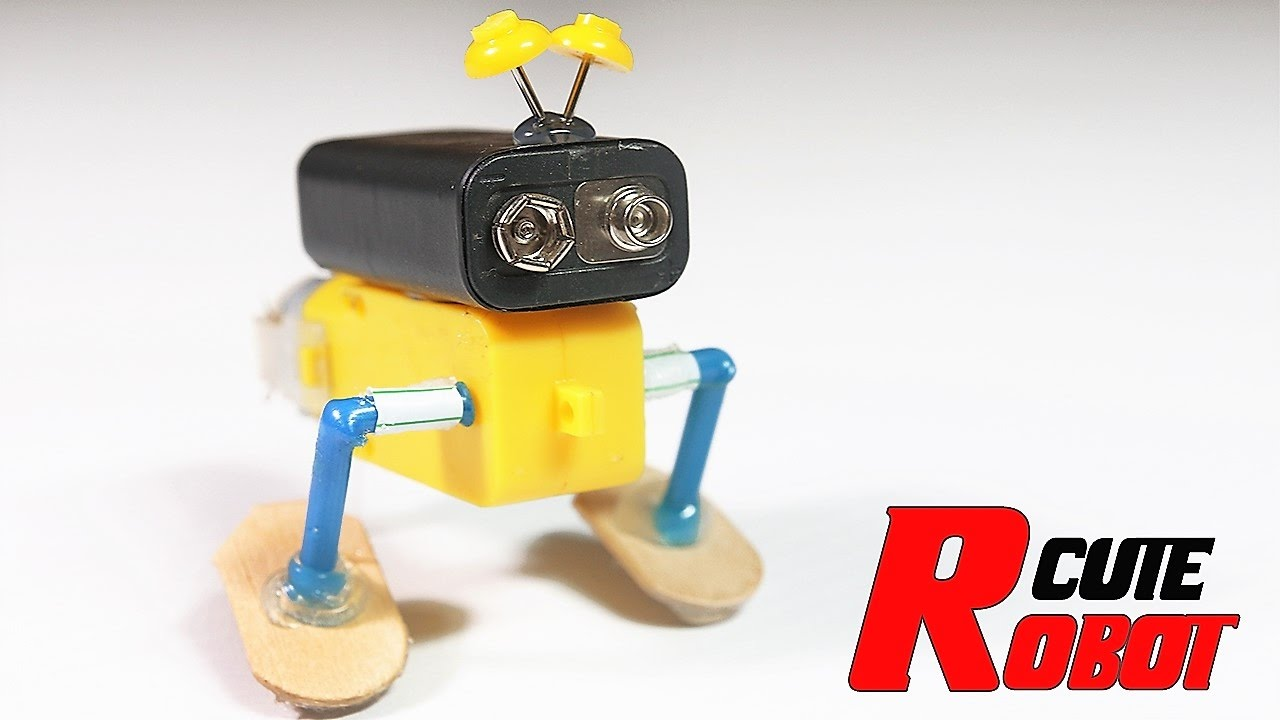 How to make a simple moving robot out of household items