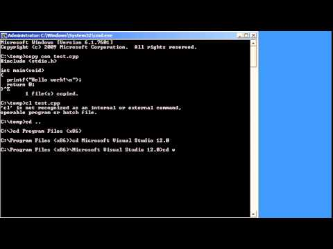 Compiling From Command Line With Microsoft Visual Studio