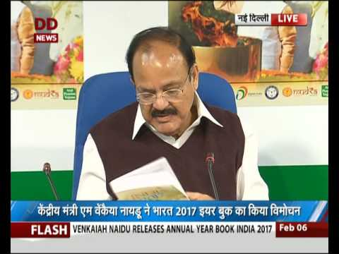 Venkaiah Naidu releases India year Book 2017