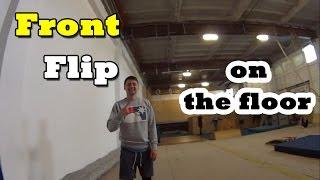 Tutorial: Front flip on the floor / Видеоурок: Сальто вперед на полу