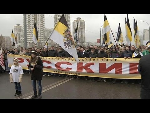 Anti-immigrant Slogans Echo Round Moscow As Russia Marks Unity Day