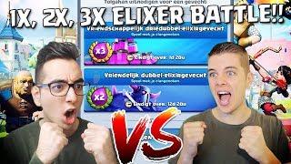 1X, 2X, 3X ELIXER BATTLE VS TOLGAHAN!! CLASH ROYALE NEDERLANDS