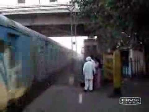 fastest train in india..narrow escape