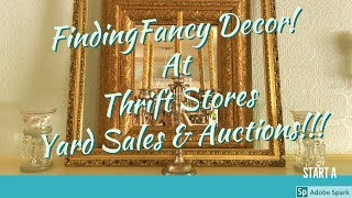 Picking Antiques at Yard Sales, Thrift Stores, and Auctions~ My Romantic Living Room Tour