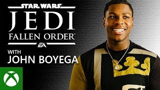 John Boyega's first time playing STAR WARS Jedi: Fallen Order