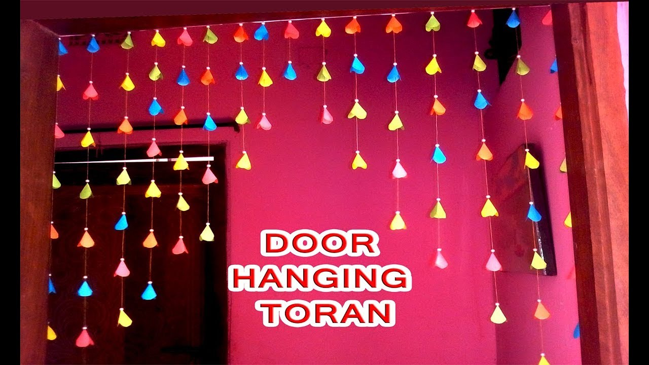 Diy Homemade Door Hanging Using By Paper