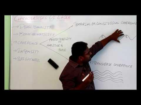 #CHARACTERSTICS OF LASER LIGHT  || ENGINEERING PHYSICS ||
