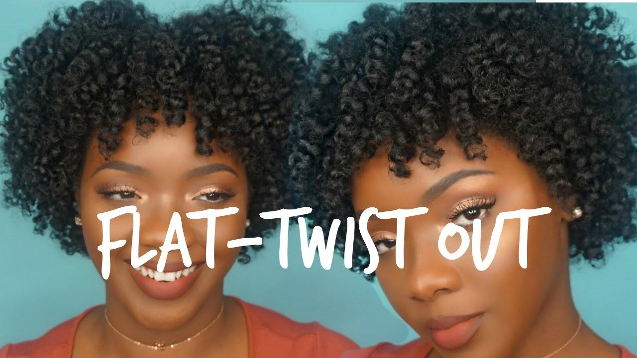 natural hair flat-twist