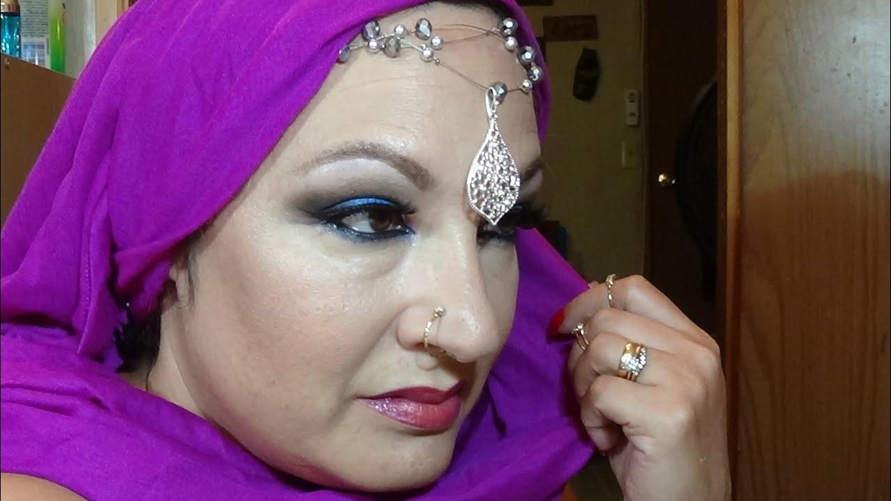 Arabian Classy Sex Symbol Makeup Smoky Sky Blue Pink Undertones Youtube