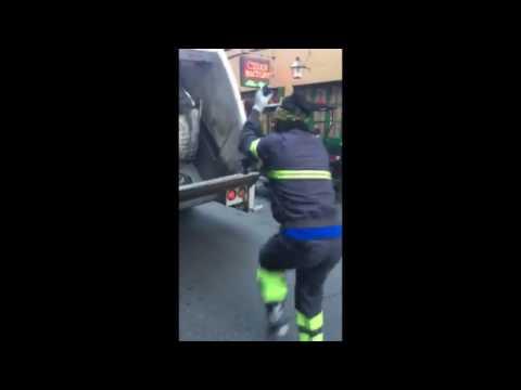 New Orleans sanitation works dance on Bourbon Street