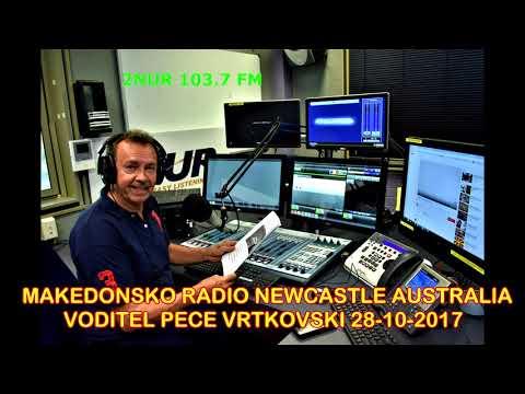 MAKEDONSKO RADIO 2NUR 103.7FM NEWCASTLE AUSTRALIA  28 10 2017