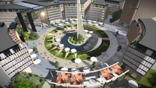 """SOLAR PLAZA"" masterplan  - architecture concept in Poland 