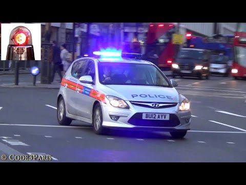 London Police Cars Responding (compilation)