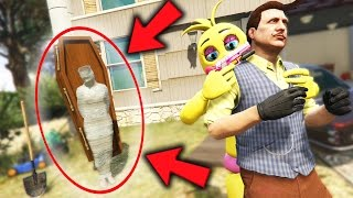 ANIMATRONICS vs NEW SECRET HELLO NEIGHBOR MURDER MOD! (GTA 5 Mods For Kids FNAF Funny Moments)