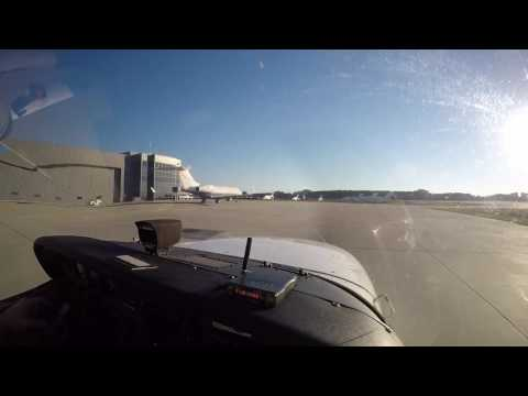 C-172 Washington Dulles to Leesburg, VA Full Video Taxi, Departure, and Landing with audio