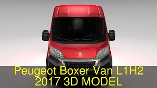 3D Model of Peugeot Boxer Van L1H2 2017 Review