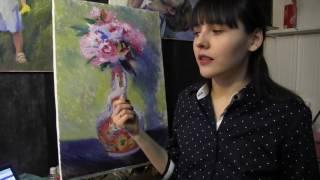 Как дописать картину в импрессионизме, личный опыт и свои мысли, художник Фания Сахарова