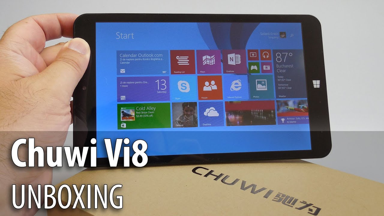 Chuwi Vi8 Unboxing (Dual Boot Android KitKat/ Windows 8.1 ...