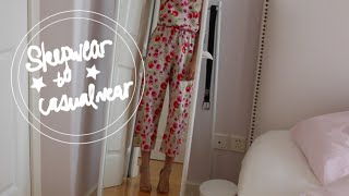 HOW TO: transform sleepwear into casual wear