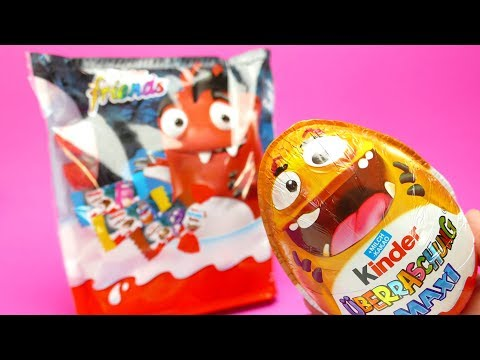 Thumbnail: Kinder SURPRISE EGG Maxi with Toys and Kinder Friends Surprise Bag