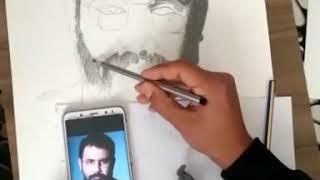 AHMET KAYA Karakalem çalışması