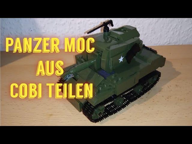 Panzer Moc gebaut aus Cobi Steinen [Deutsch]