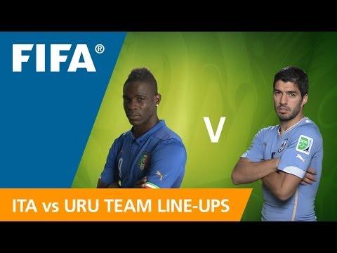 Italy v. Uruguay - Teams Announcement