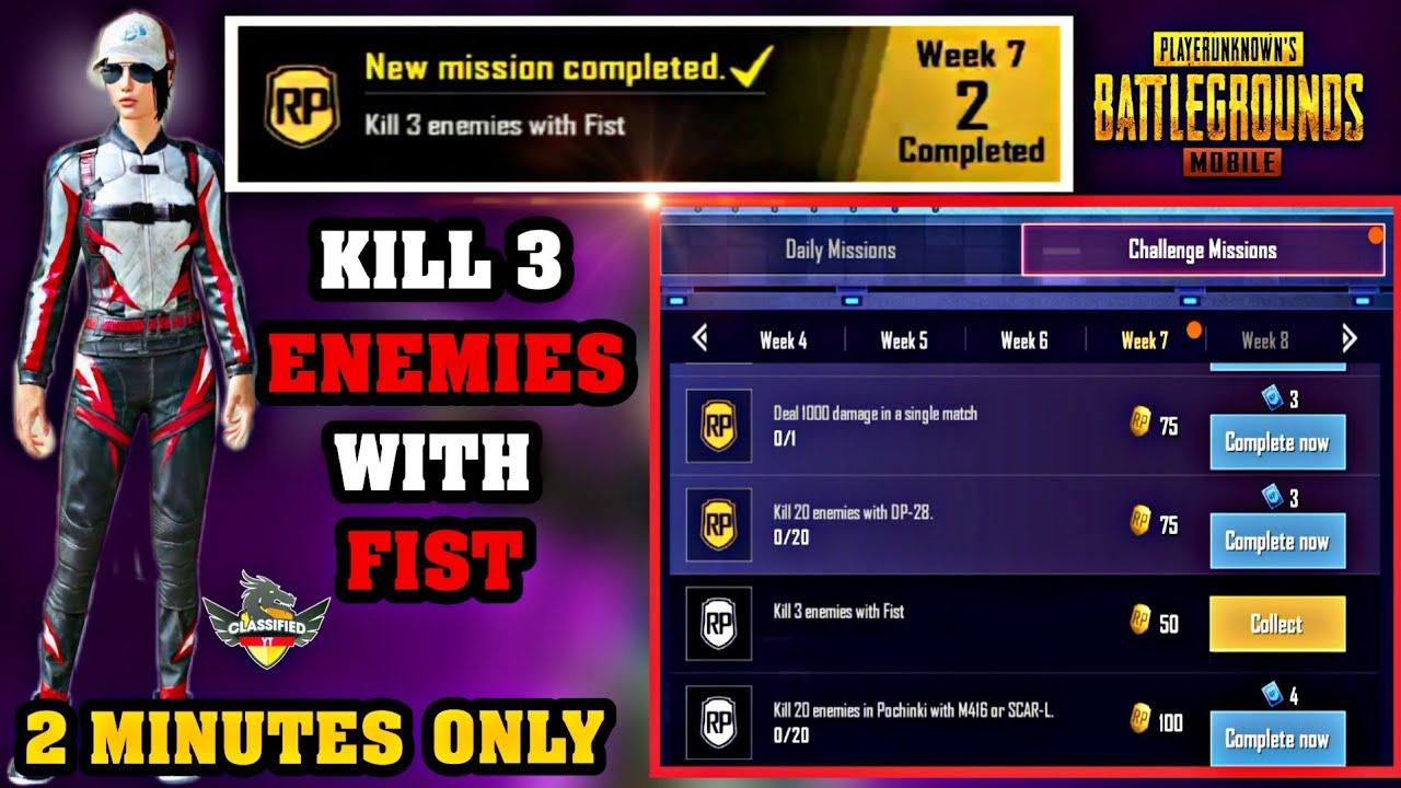 Kill 3 Enemies With Fist Pubg Mobile Hindi Youtube - kill 3 enemies with fist pubg mobile hindi