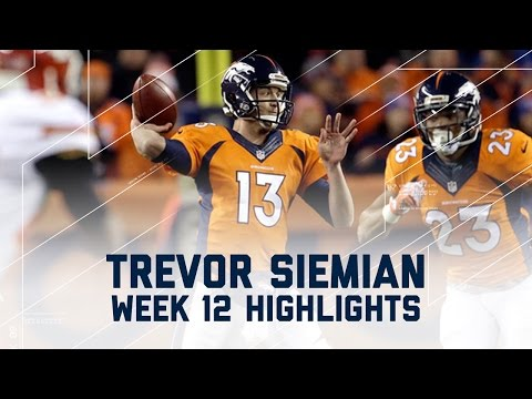 Trevor Siemian Throws for 368 & 3 Scores | Chiefs vs. Broncos | NFL Week 12 Player Highlights