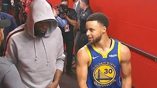 Kevin Durant Gives Stephen Curry Advice & Hypes Him Up Before Game 3!
