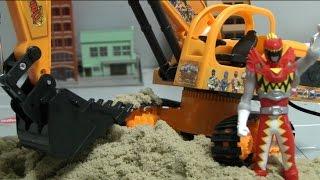 파워레인저 다이노포스 포크레인 장난감power rangers dino charge sand play toys đồ chơi siu nhn th điện