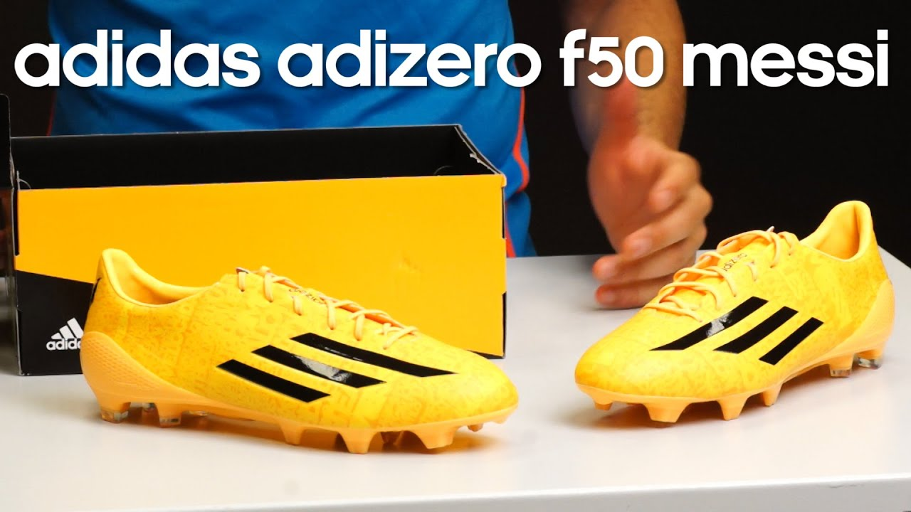 Botas Messi Review Botas Adidas Adizero F50 Solar Gold Messi Youtube