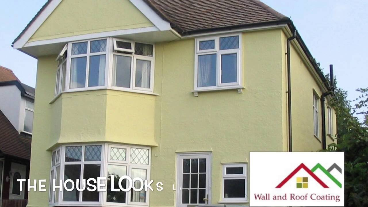 Wall And Roof Coating Ltd . Never Paint Again . Exterior Wall Covering U.K.  Kent Essex London