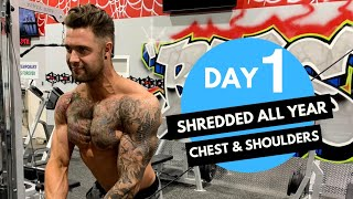 Chest and Shoulder Workout to look SHREDDED ! Day-1 (Hindi / Punjabi)