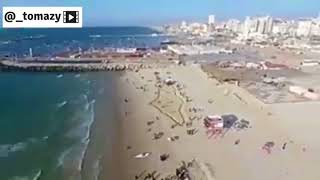 Map of Palestine on Gaza beach according to Gazans thumbnail