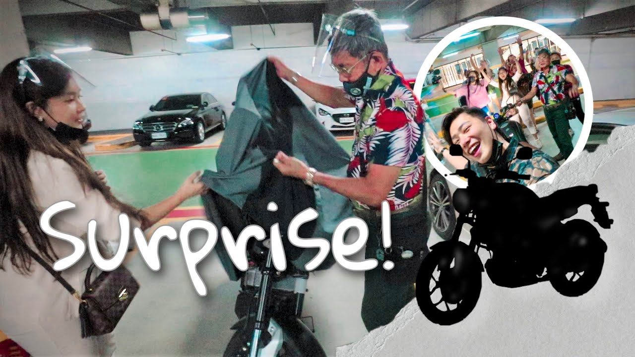 Download SURPRISING PAPA WITH A CAFE RACER! (FIRST TIME TO!!!!)