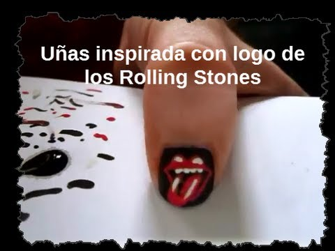 Uñas decoradas con Rolling Stones - YouTube