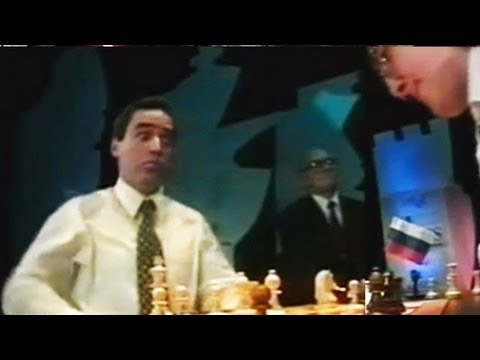Kramnik DEMOLISHES Kasparov - Classic 1990s Chess Footage (Paris 1995)