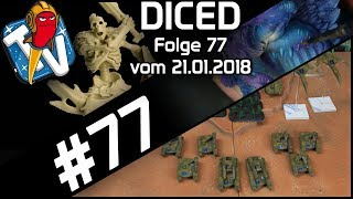 DICED - Die Tabletopshow auf Rocketbeans TV #77 | Dropzone Commander | Hate | Shadespire | DICED