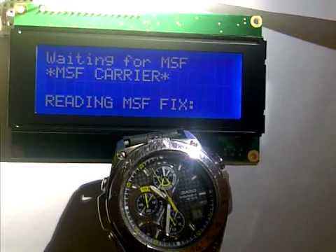 MSF receiver displaying on arduino with LCD
