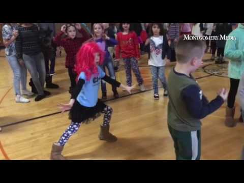 Rockin' Recess had kids dancing up a storm at the Makefield Elementary School in Yardley.
